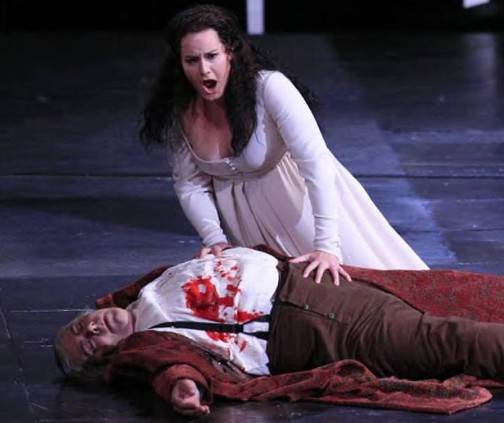 Donna Anna with Commendatore, Don Giovanni